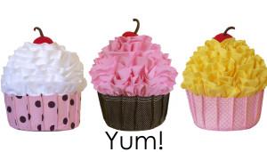 3 cupcakes backpacks