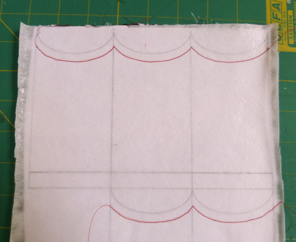sew along red line