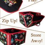 """""""Play, then Store Away"""" Convertible Playmat & Storage Tote Pattern"""