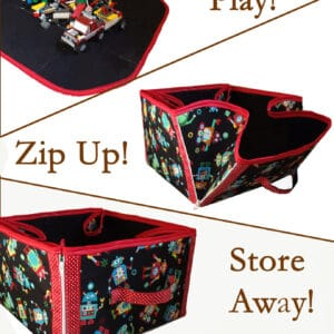 """Play, then Store Away"" Convertible Playmat & Storage Tote Pattern"