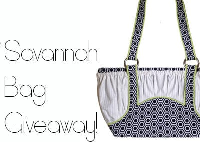 Giveaway!  Win a Savannah Bag pattern!