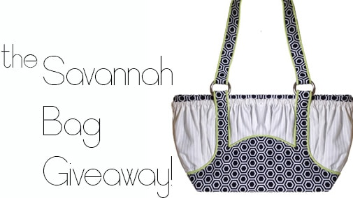 Giveaway!  Win a Savannah Bag pattern!