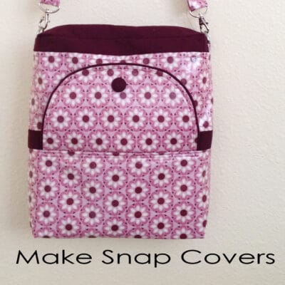 Make  magnetic snap covers for your Convertible/Reversible Bag