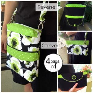 convertible reversible bag sewing pattern