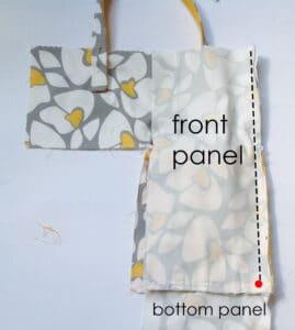 sew long side of B