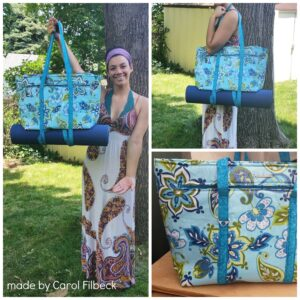Carol Filbeck made this great bag for her granddaughter; I'd say it was a hit!