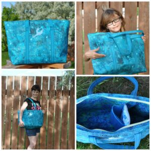Janice made this great dance bag for her kiddo...what a nice mom!