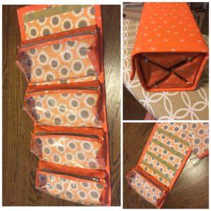 Super smart Rachel B. added clear vinyl to her rollie pollie pouches!