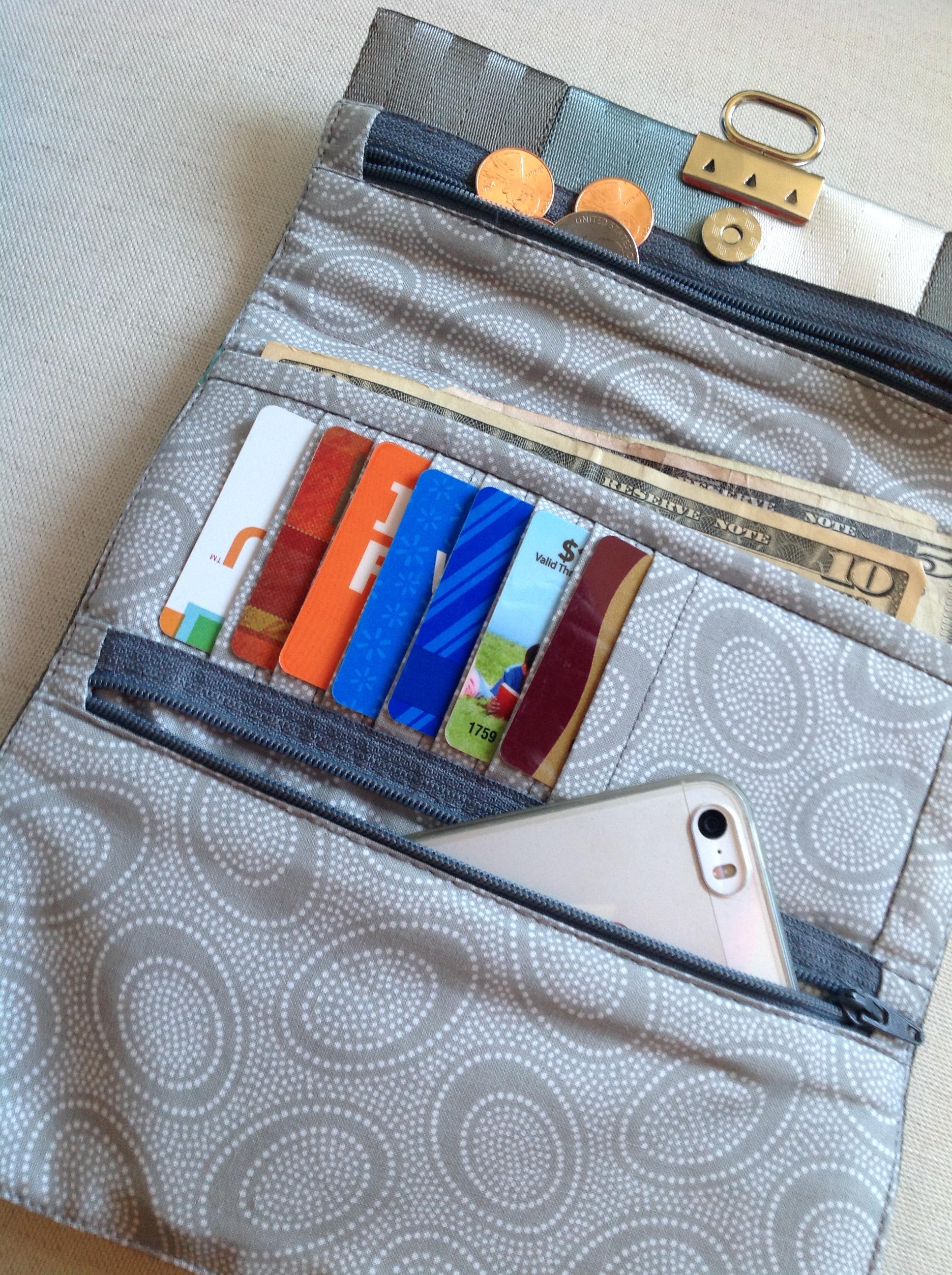 inside the tri-fold wallet