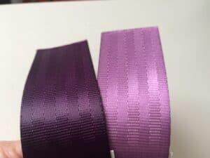aubergine & lilac seat belt webbing