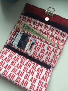 tri fold wallet interior