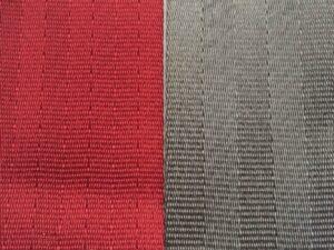 deep red & cement seat belt webbing
