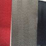 deep red, cement and midnight seat belt webbing