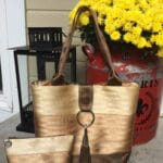 butter, copper and chocolate seat belt webbing