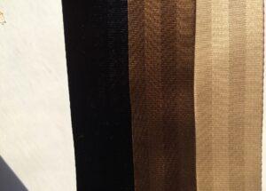 midnight, otter brown & beige seat belt webbing