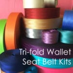 tri fold wallet seat belt kit