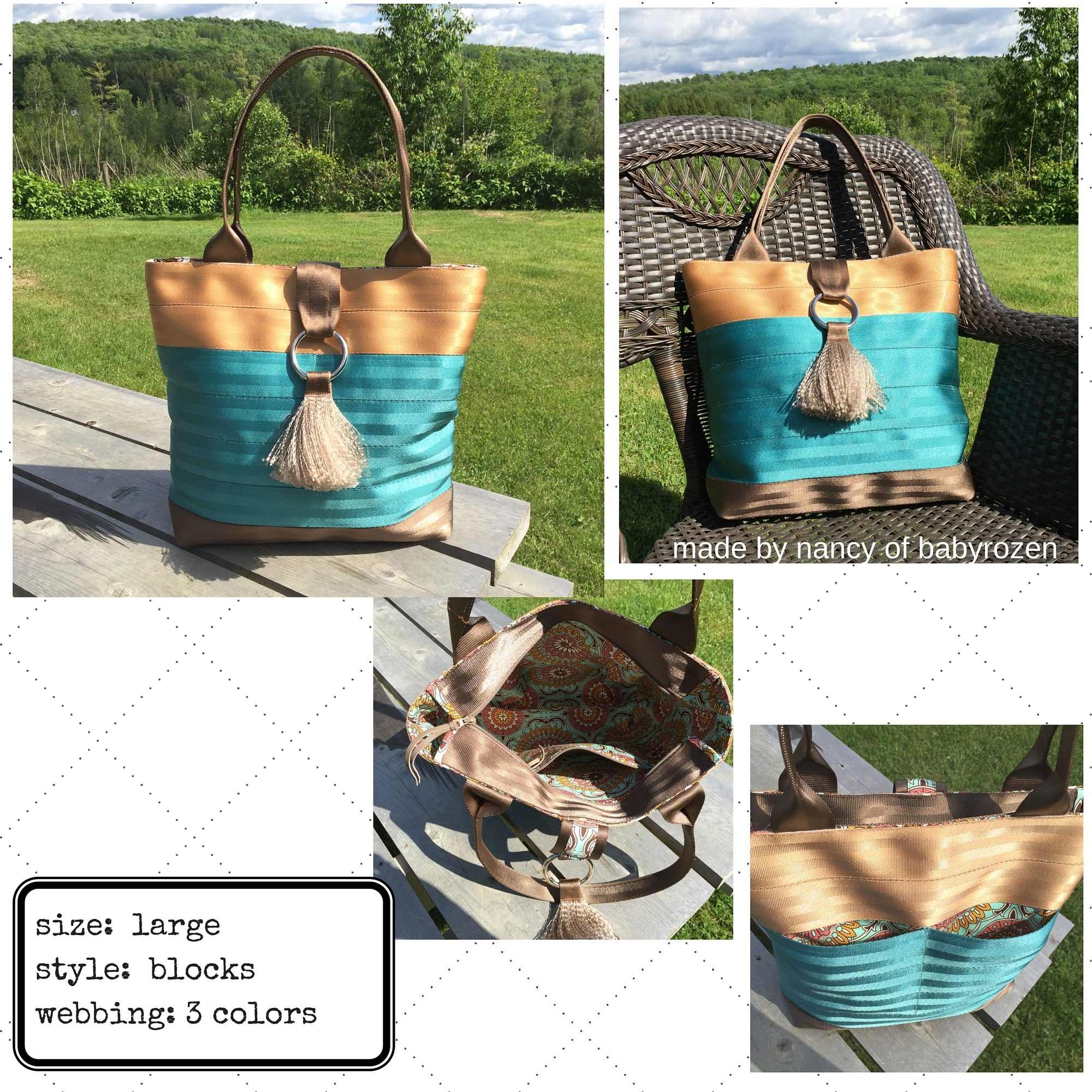 nancy's copper, aqua and otter brown tote (1)