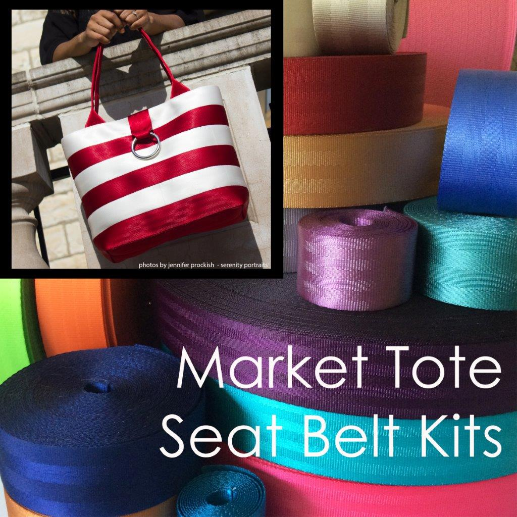 market bag seat belt tote kit