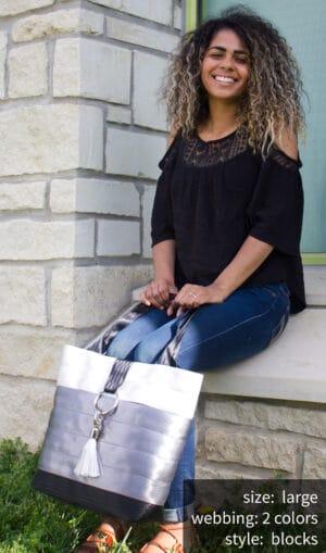 Large size block style bag
