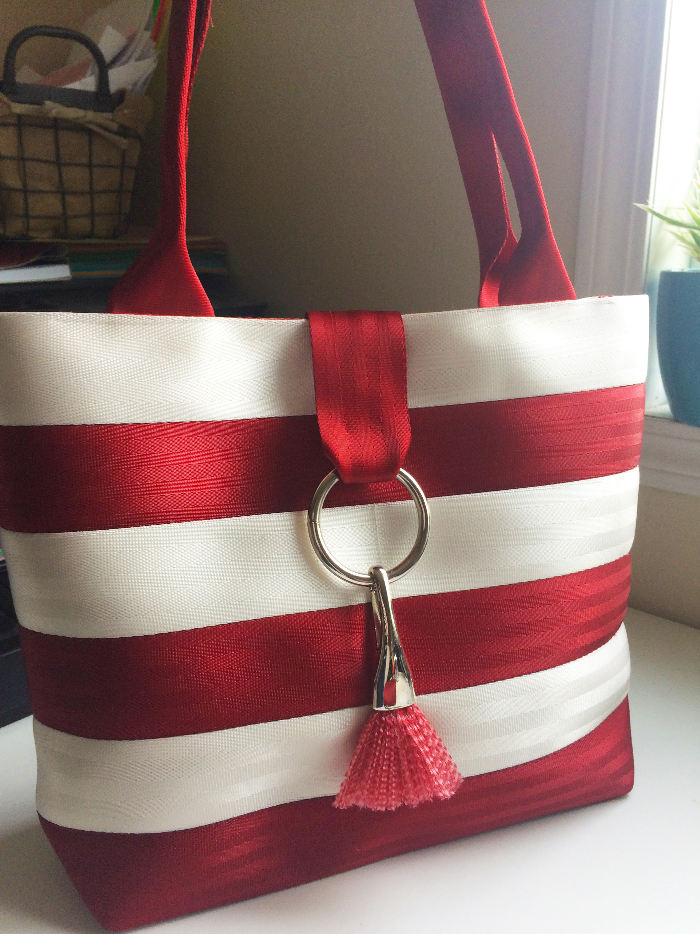 Add a seat belt tassel to your Market Tote!