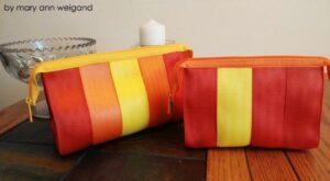 poppy, sunshine & orange juice seat belt webbing