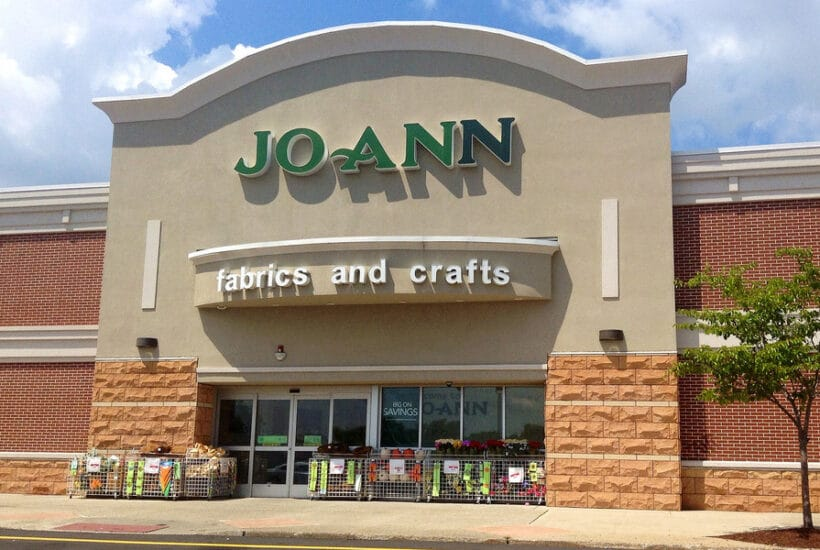 front of a joann fabric store